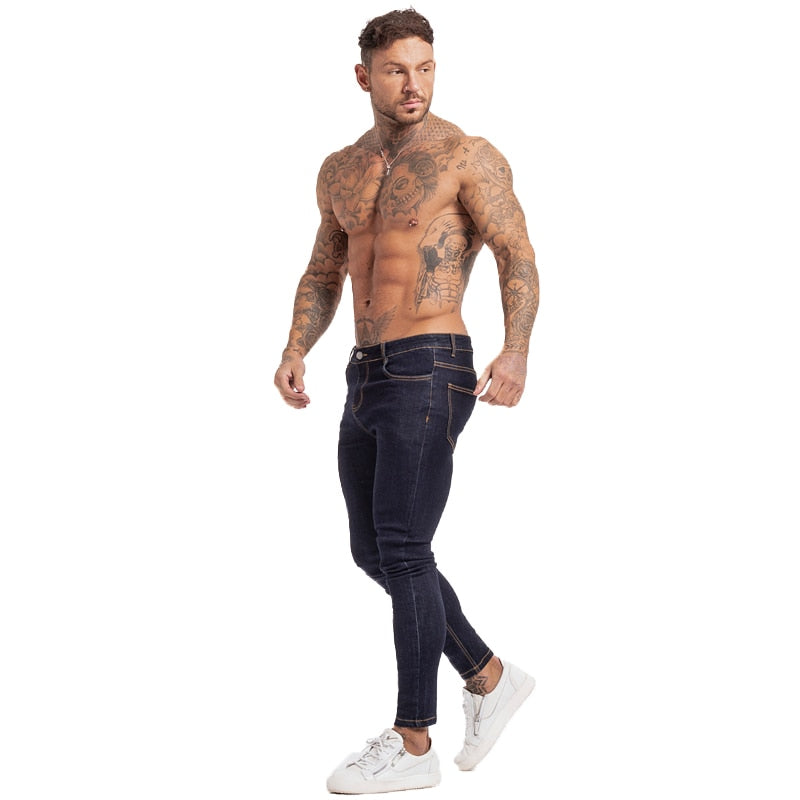 Skinny Low Rise Men Classic Dark Jeans
