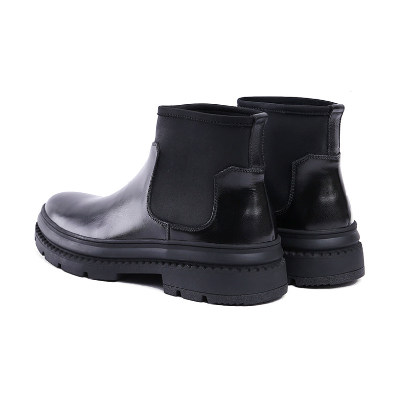 Black Slip On Men Chelsea Boots - FanFreakz