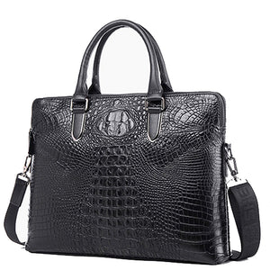 Croco Pattern Businessman Men Vintage Shoulder Bags - FanFreakz