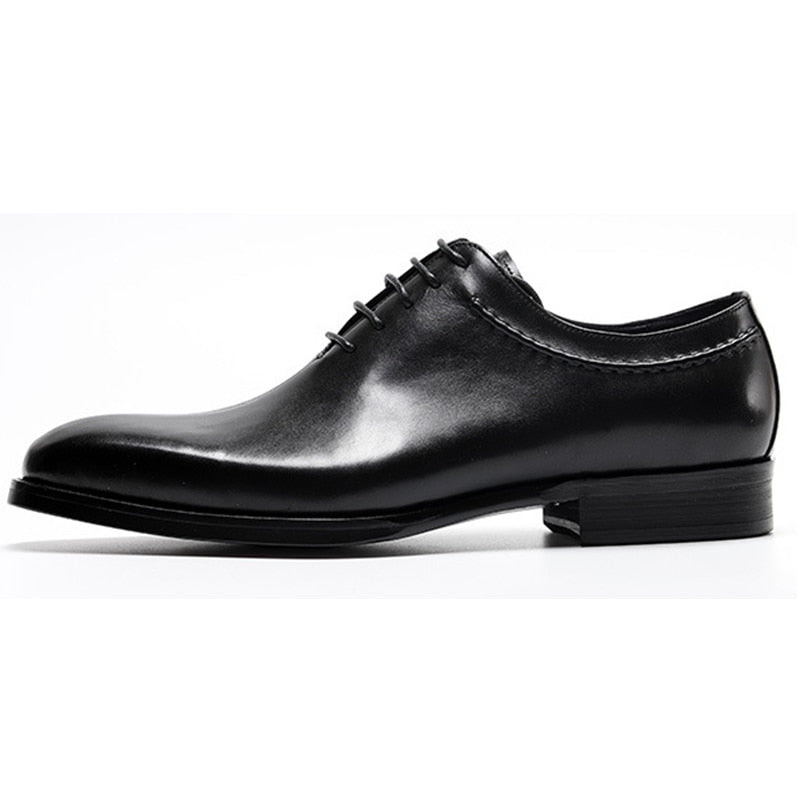 Clean with Bold Solid Design Men Oxford Shoes - FanFreakz
