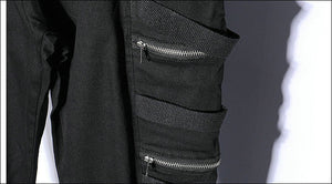Zipper Multi-Pocket Streetwear  Men Sweatpants Jogger Pants