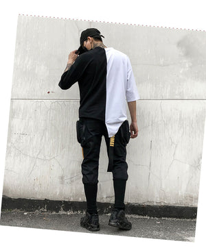 Hip Hop Joggers Cargo Harem Style Slim Men Pants with Big Pockets and Zippers