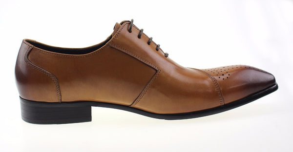 Men Italian Style Oxford Shoes with Side Buckle Strap