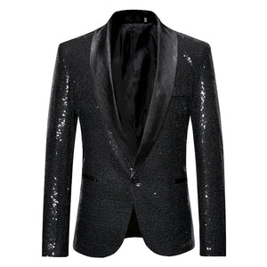 Nightclub and Stage Performer Full Sequin Style Men Blazer