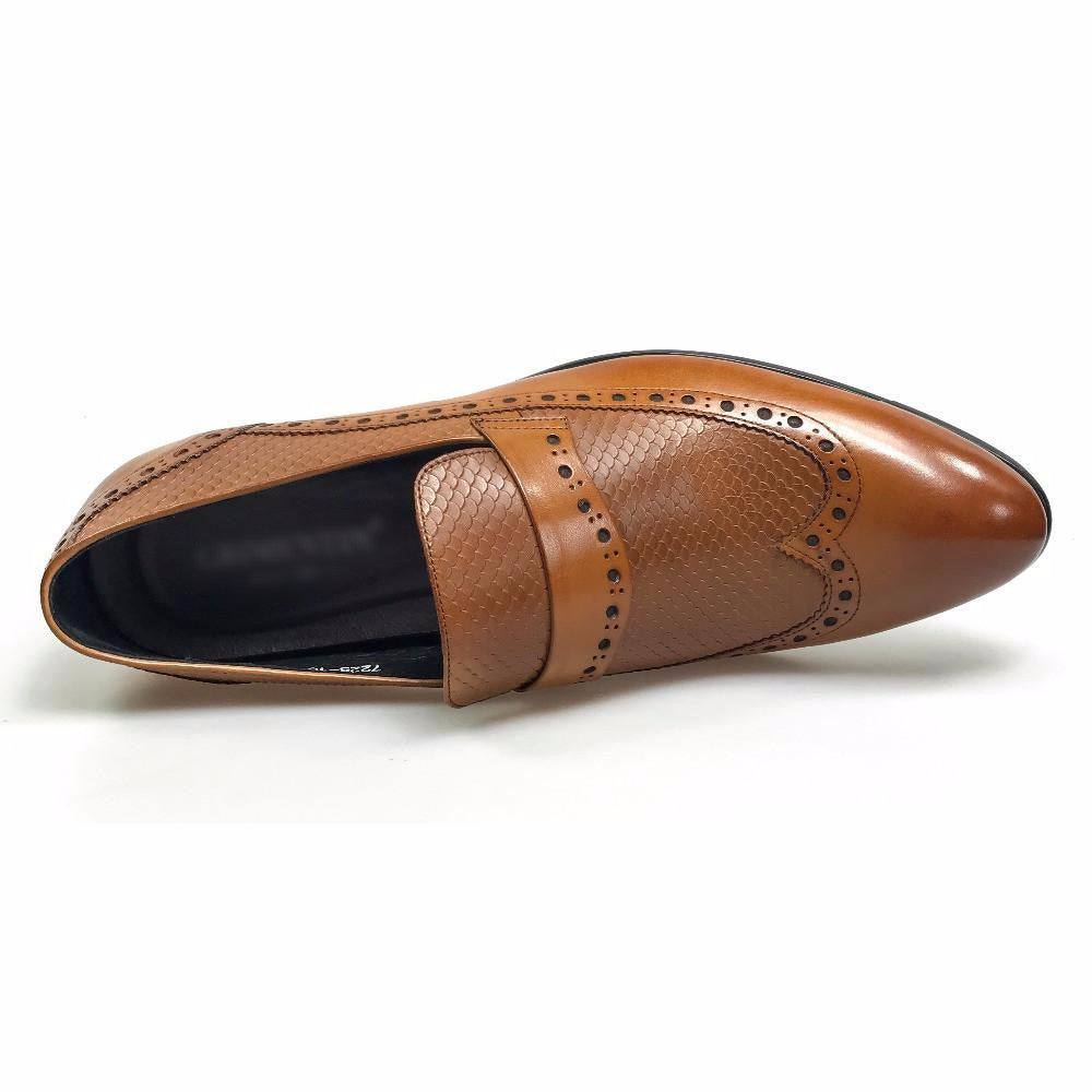 Wingtip Brogue Style Men Loafers Shoes - FanFreakz