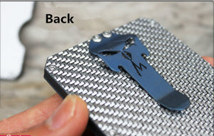 Storm Pure Titanium Alloy Clip Multifunction Men Wallet Multifunction Card Holder Man Gift
