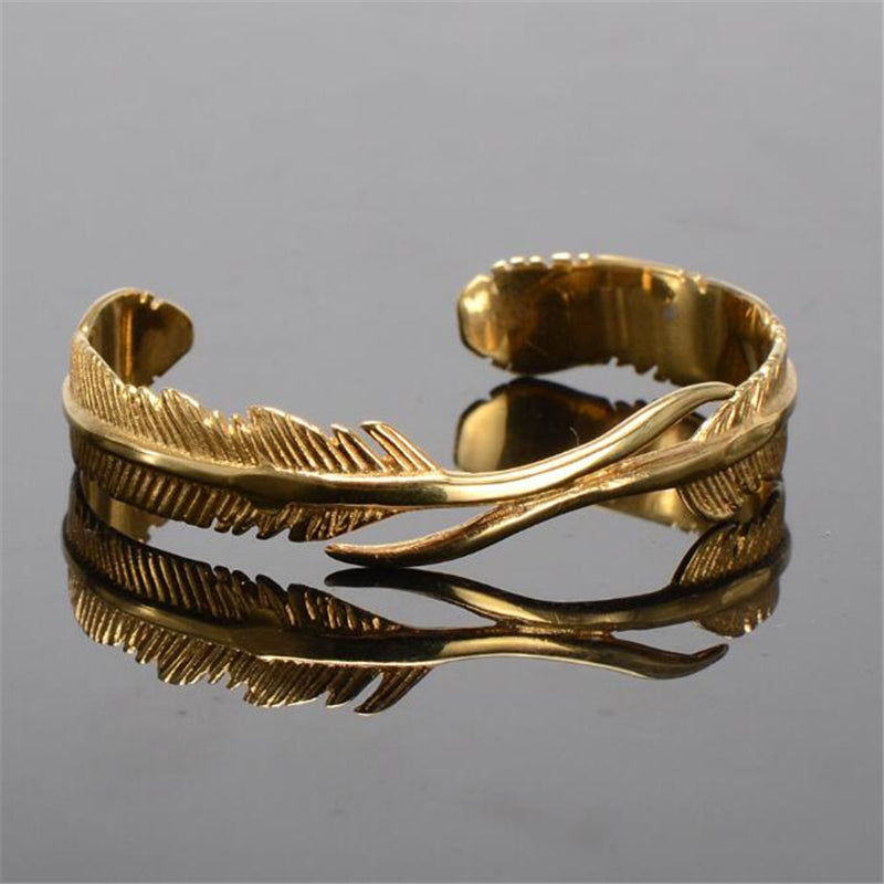 Angel's Feather Men Cuff Bracelets - FanFreakz