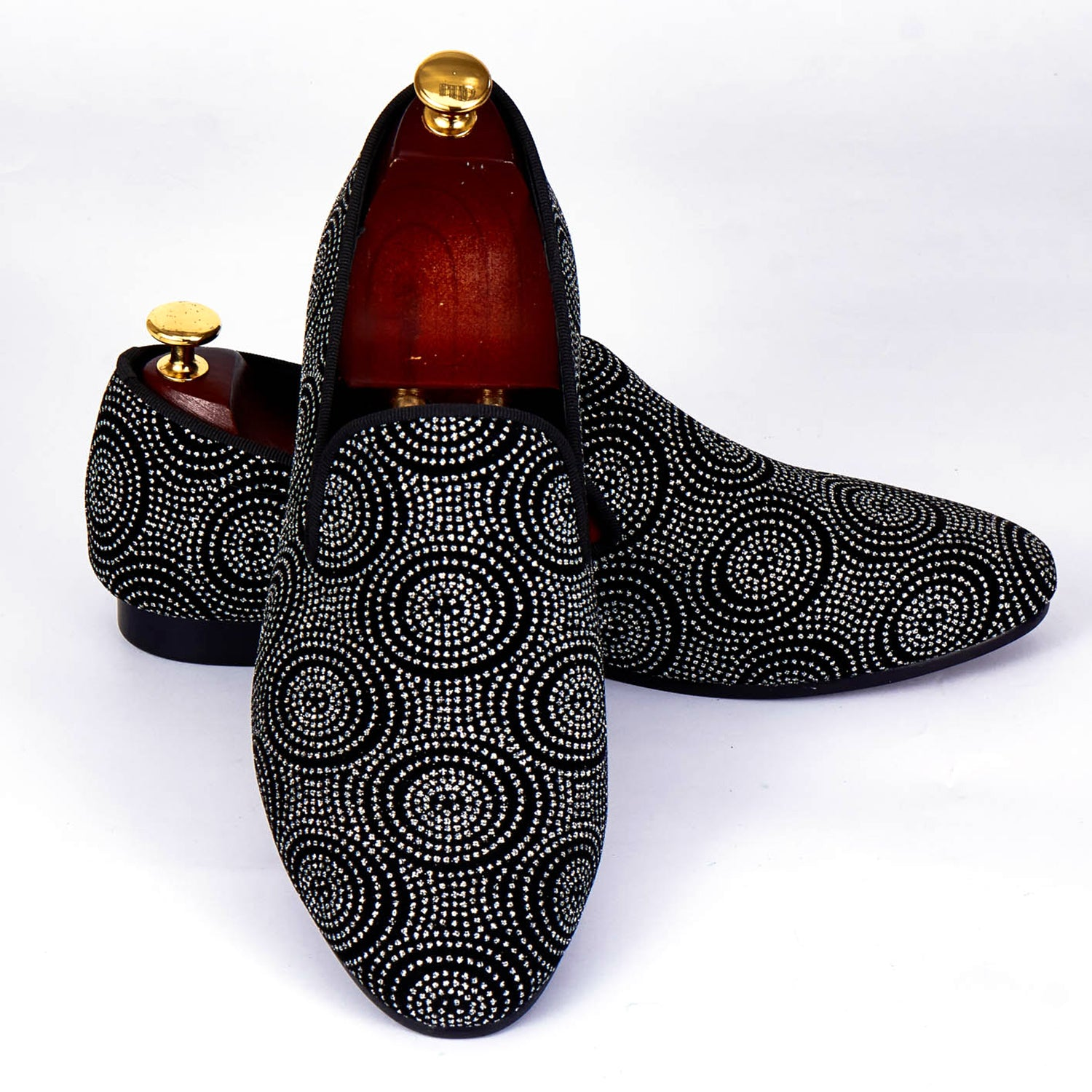 Sparkle Men Velvet Loafers Shoes