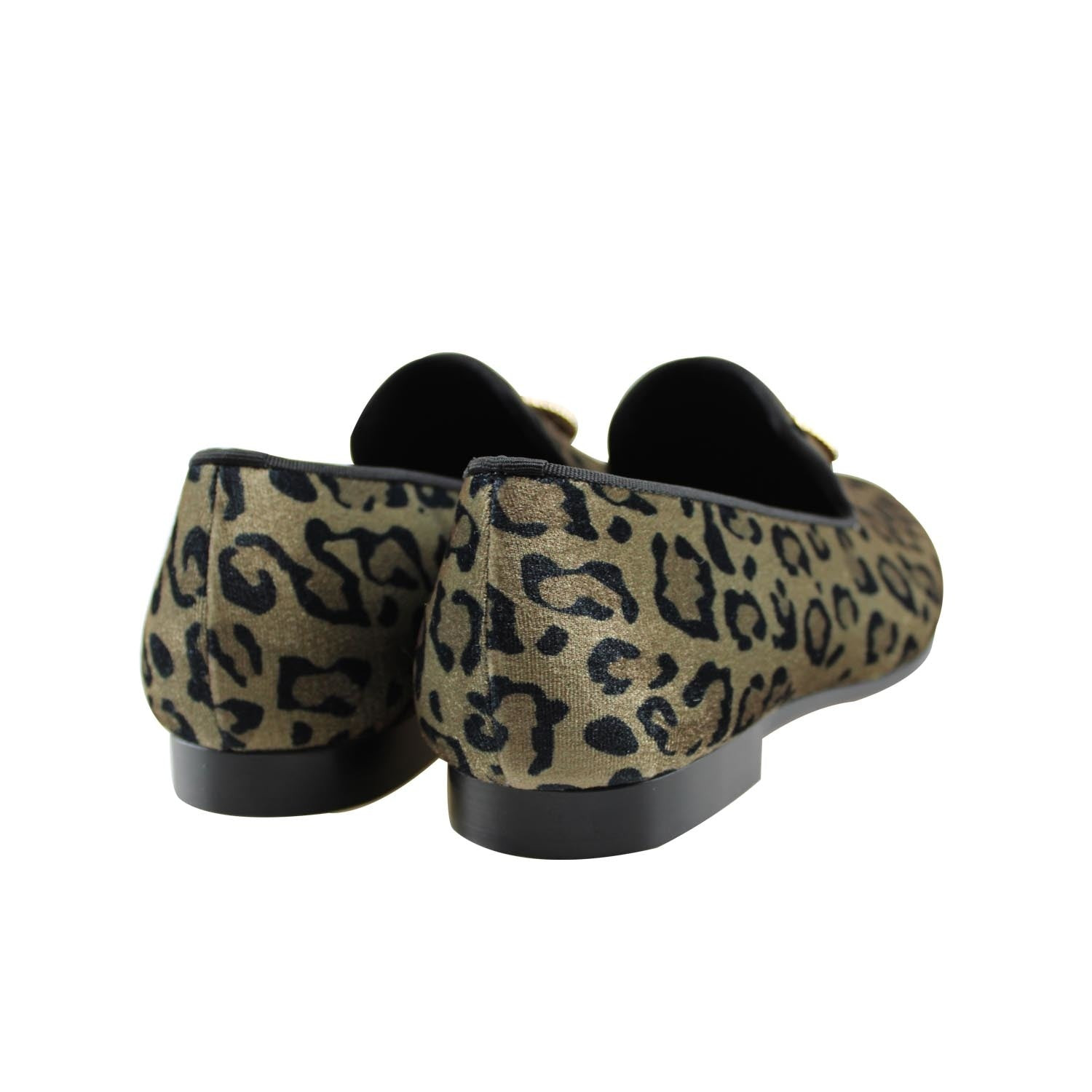 537a105e555c8 Velvet Leopard Print with Lion Emblem Men Loafers Shoes – FanFreakz