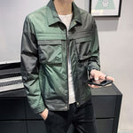 Men Spring Jacket  Gradient Color Casual Jackets
