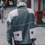 Casual Harajuku Multi Pockets Streetwear Men Track Jacket - FanFreakz