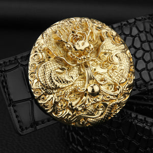 Oriental Art Round Buckle Men Belt