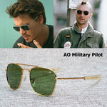 Army Military AO Pilot Style Men Sunglasses