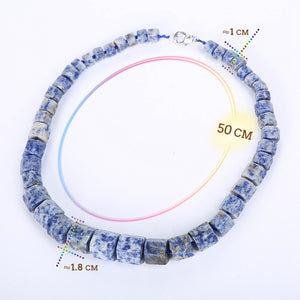 Blue Stone Bead Natural Jewelry Design Men Necklace