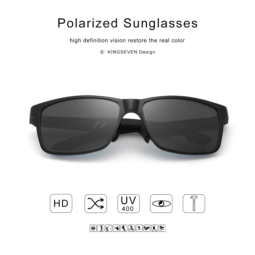 Aluminium Rectangle Masculine Style Men Polarized Sunglasses - FanFreakz