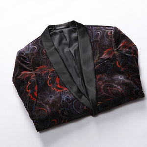 Paisley Mix Art Fancy Men Velvet Blazer