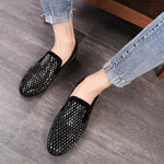 Shining Bricks Pattern Decoration Men Loafers Shoes