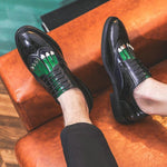 Men Formal Patchwork Shoe PU Leather Casual Man Brogue