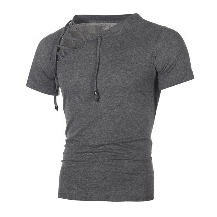 Sexy String Hipster Fitness Men Short Sleeve T Shirt
