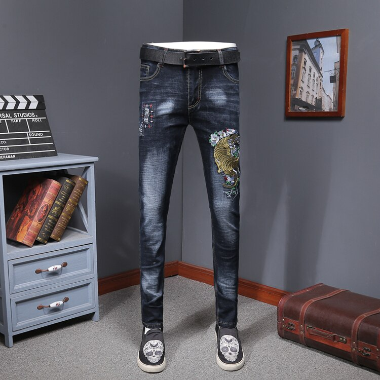 Men Colored Jeans Fashion Slim Fit