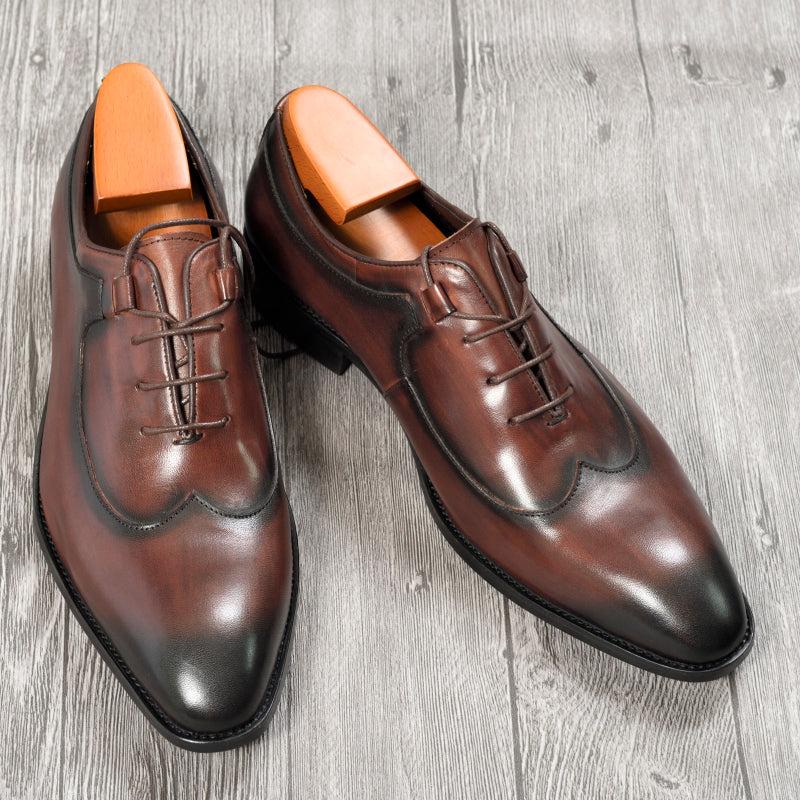 Oxford Short Boot Wedding Faux Leather Mens Lace Up Rivet Point Toe Office Shoes
