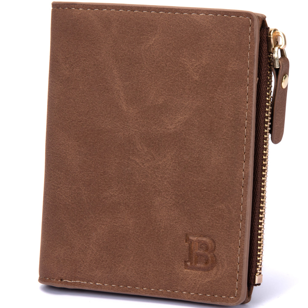 Classic Vintage Casual Bifold Soft PU Leather Card Case Coin Pouch Men Wallet - FanFreakz