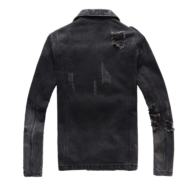 Cool Zippers Highlight Men Biker Denim Jacket - FanFreakz