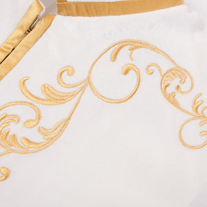 Royal Style White Gold Embroidery Men Blazer