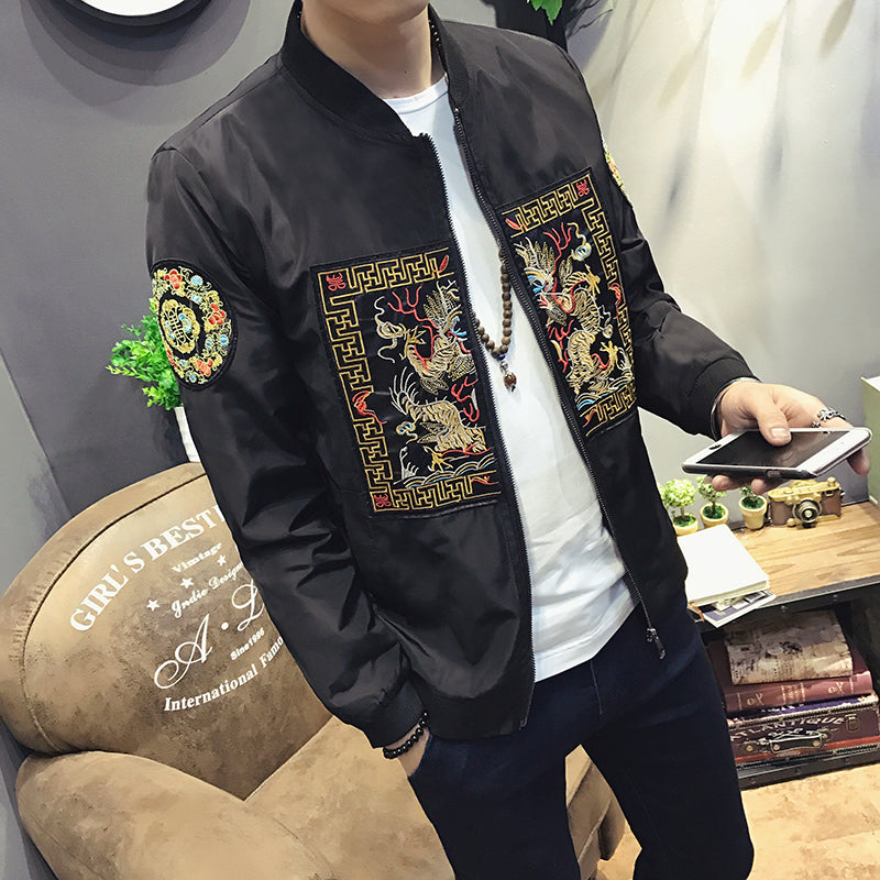 90a3e5fcb Spring Autumn Chinese Long Pao Slim Fit Style Men Jacket – FanFreakz