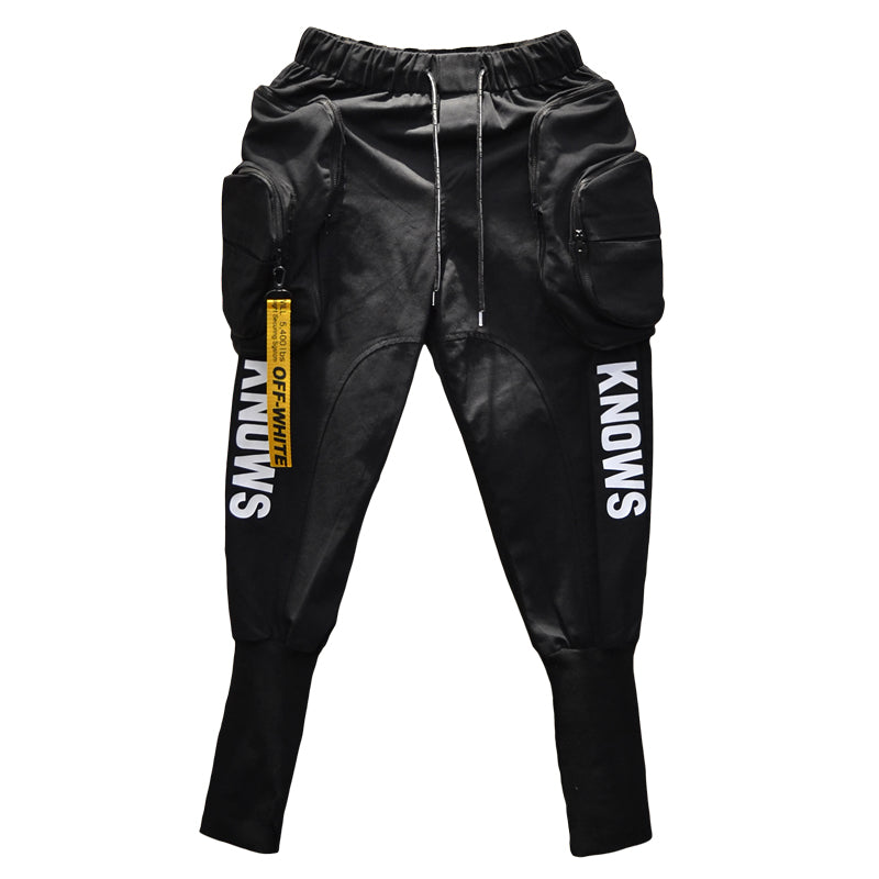 fe8984ba58 Hip Hop Joggers Cargo Harem Style Slim Men Pants with Big Pockets and  Zippers