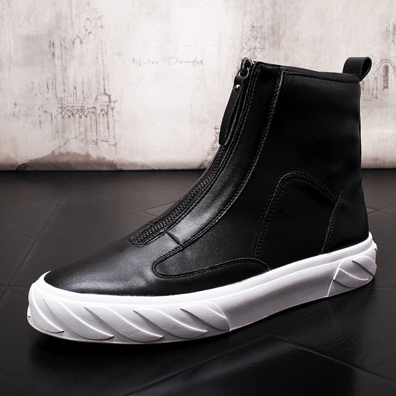 Men Fashion Casual Hip Hop Ankle Boots