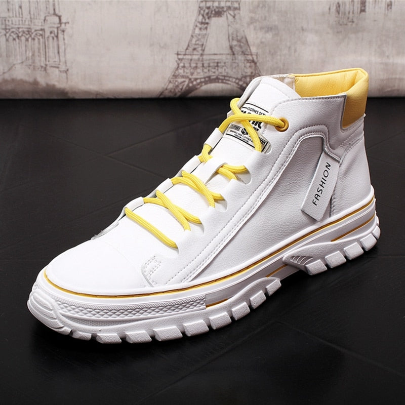 New Men Fashion Casual Ankle Boots High Top