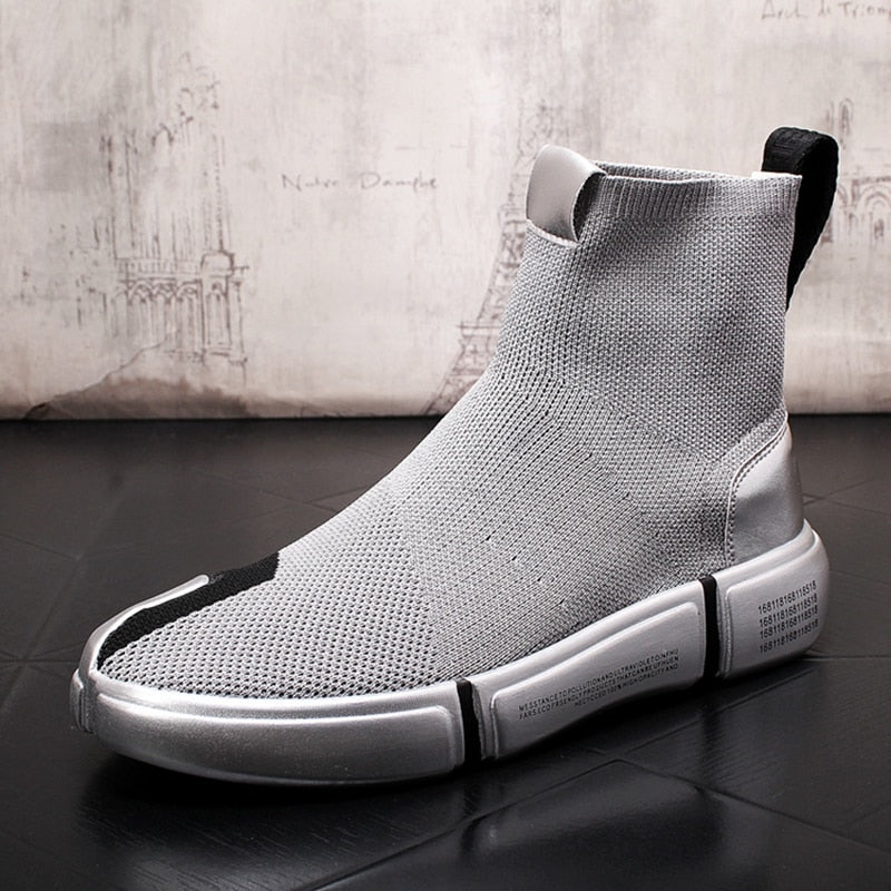 Casual Ankle Boots Knitting Socks Sneakers Men