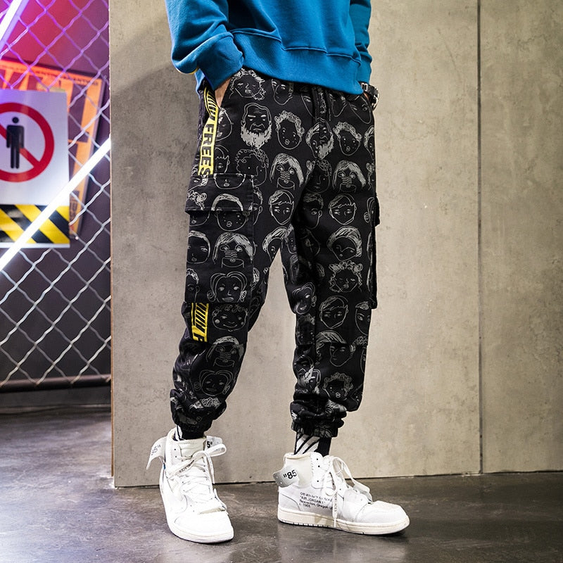 New Graffiti Avatar Printing Men Jogger Pants
