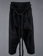 Thick Waist Rope Gothic Men Baggy Pants