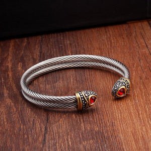 Vintage Sporty Men Charm Steel Bracelets