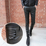 Men Skinny PU/Faux Leather Pants