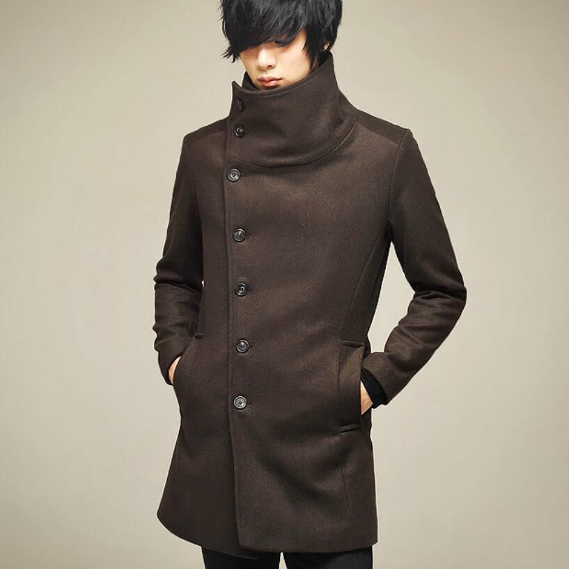 High Collar Chic Korean Style Men Winter Coat