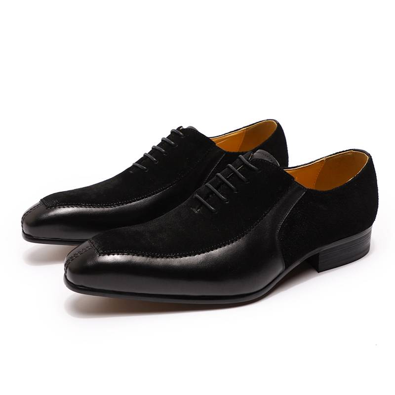 Luxury Formal Split Suede Leather Men Oxford Shoes