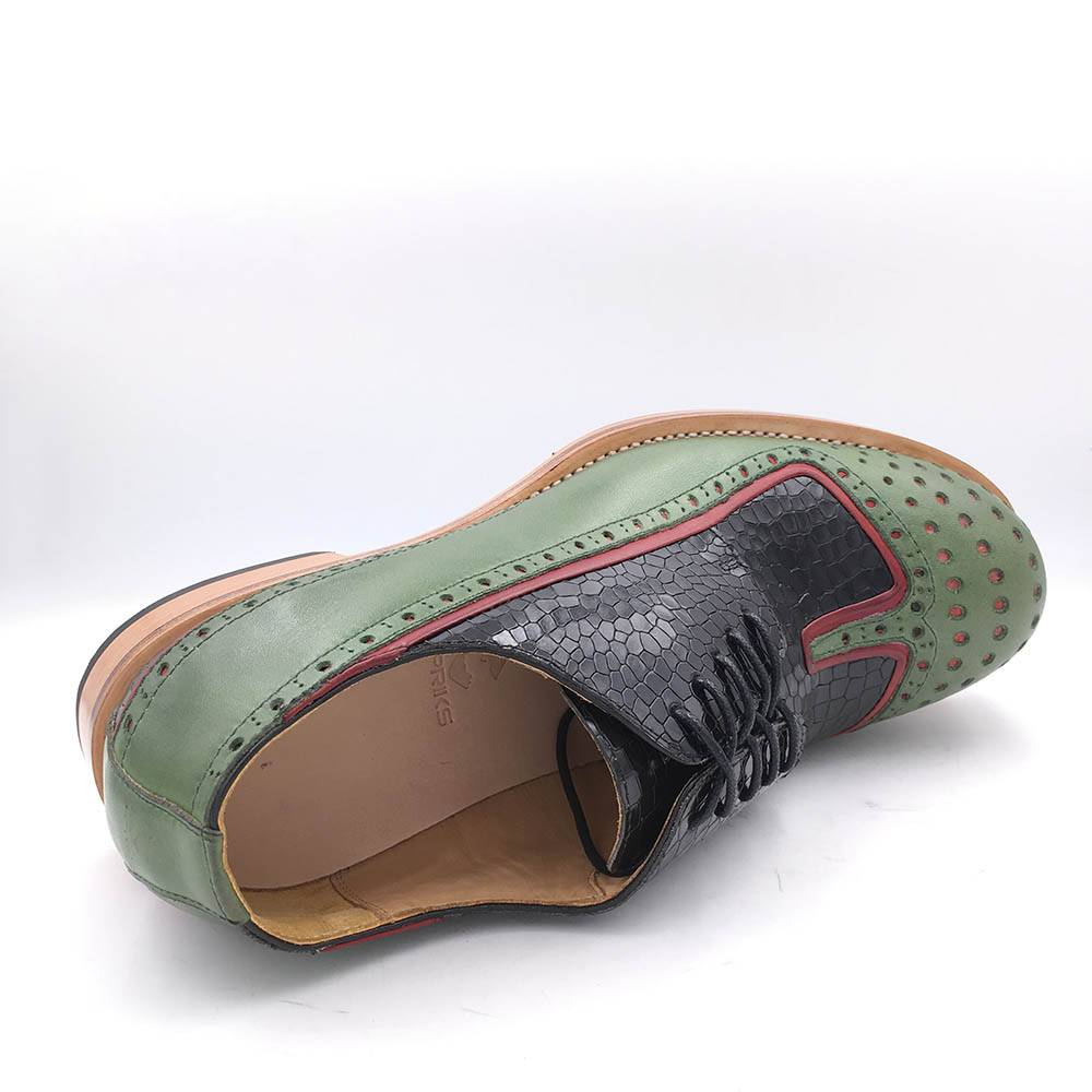 Unique Design Thick Round Toe Casual Men Leather Shoes