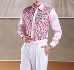 Viscose Light Bright Paisley with Sequin Detail Men Shirt