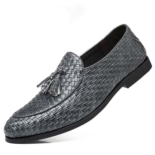 Tassel Anyaman Men Business Dress Shoes - FanFreakz