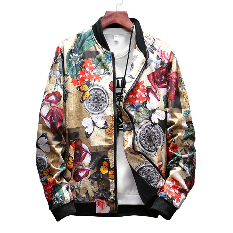 f59d07aa0 Japan Style Casual Bomber Art Printed Style Men Jacket