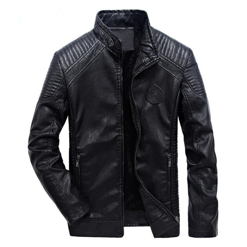 Classic Masculine Biker Style Men PU Leather Jacket