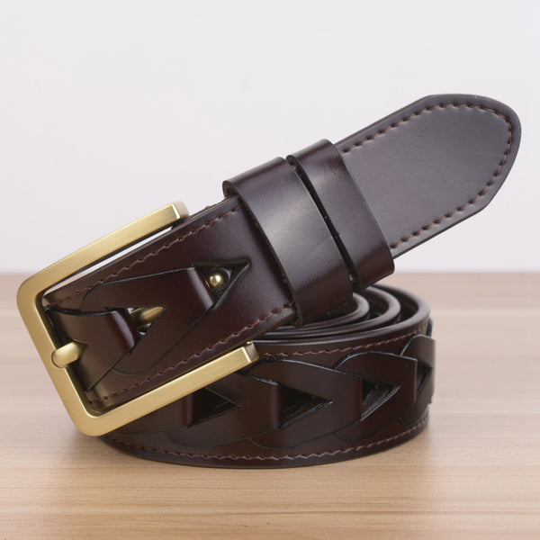Men Chained Style Leather Belt