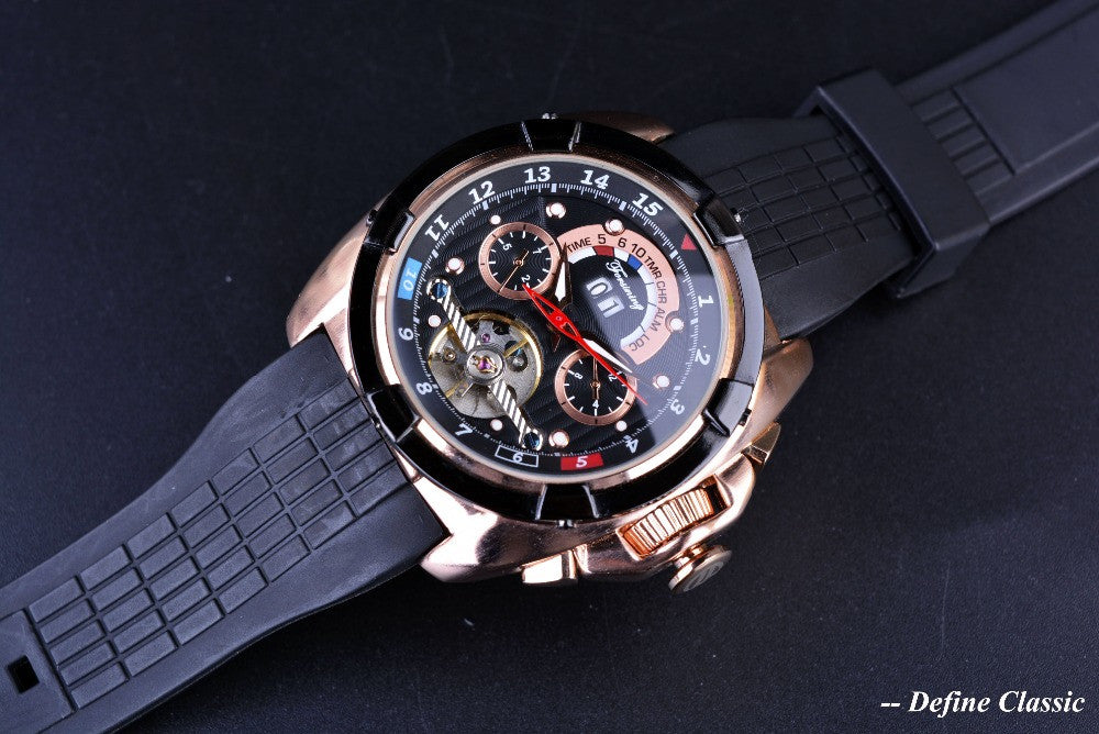 Forsining Tourbillon Rose Gold Watch - FanFreakz