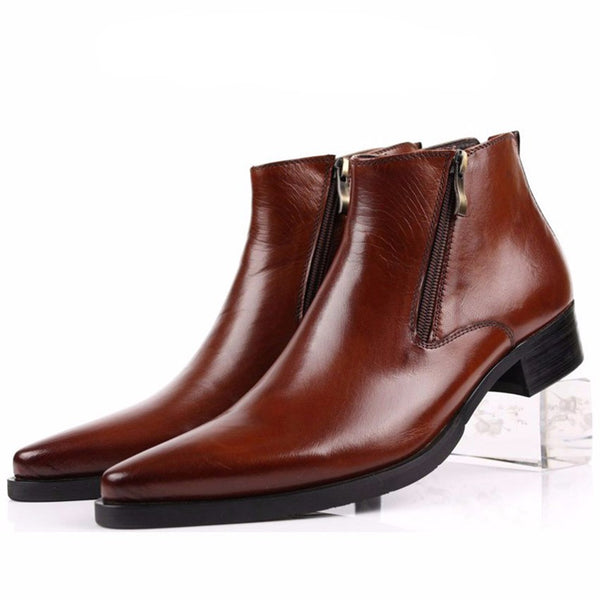 Side Zip Italian Style Elegant Gentleman Men Boot