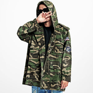 Embroidery Rocket Camouflage Hooded Men Jacket - FanFreakz