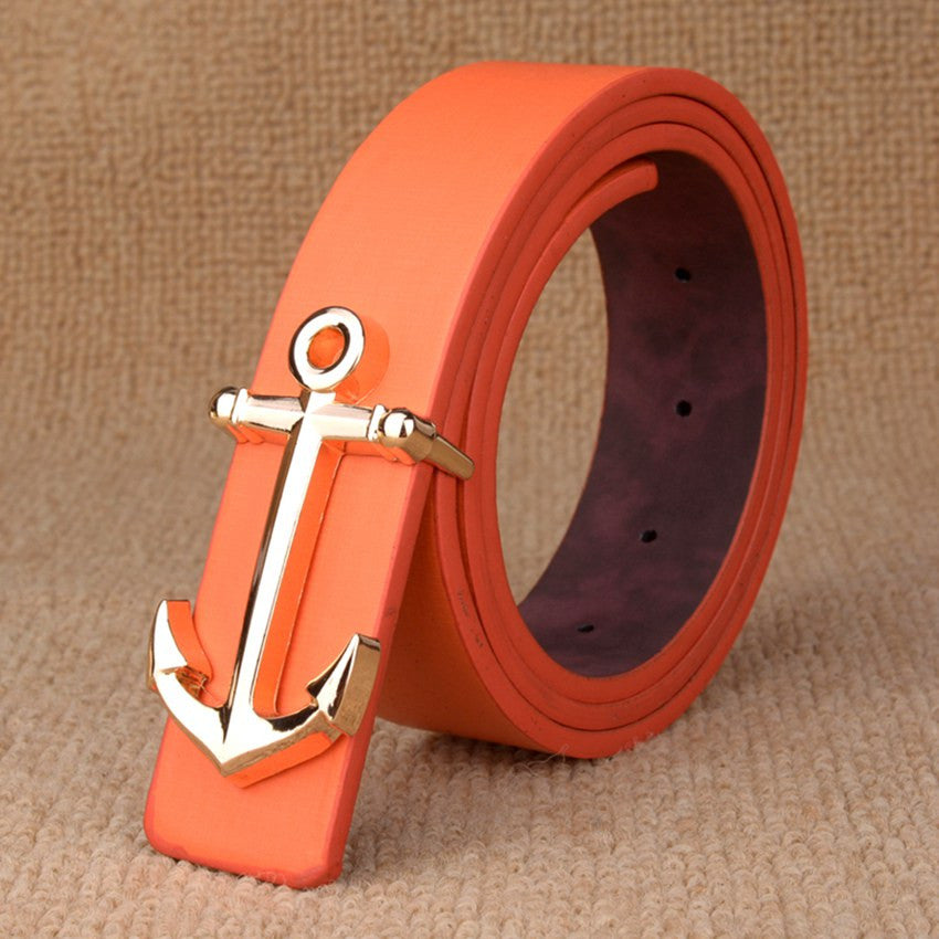 Anchor Buckle Men Faux Leather Belt - FanFreakz