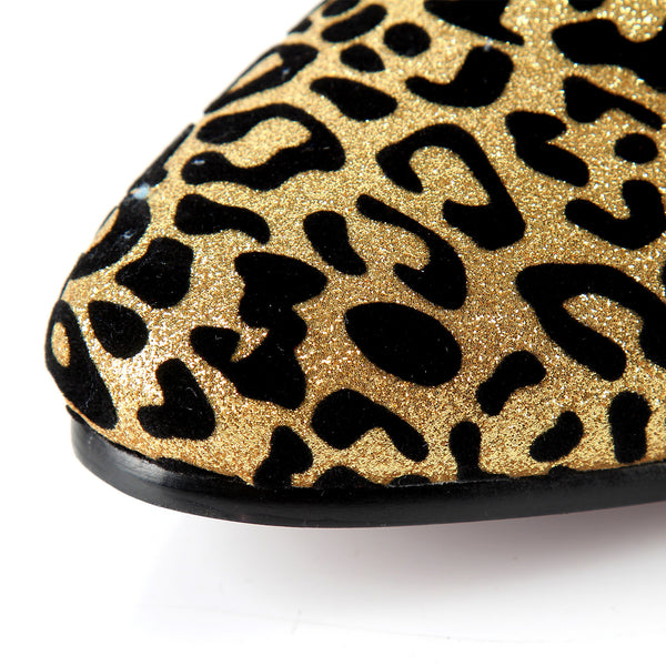 Leopard Printed Men dress Shoes | Slip On Wedding Shoes For Special Events